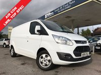 USED 2016 16 FORD TRANSIT CUSTOM 2.2 290 LIMITED LR P/V 1d 125 BHP 3 Seater, One Owner, Long Wheel Base, 125 BHP, Top Spec.