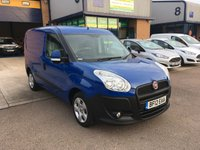 USED 2012 12 FIAT DOBLO 1.2 16V SX MULTIJET 1d 90 BHP FSH, E/W, P/SENSORS, 70,000 MILES, 6 MONTH WARRANTY & FINANCE ARRANGED. FSH, E/W, Parking sensors, Radio/CD, Drivers airbag, Factory fitted bulk head, Side loading door, Ply-lined, racked out, Blue, Very Good Condition, 1 Owner, remote Central Locking, Drivers Airbag, CD Player/FM Radio, Steering Column Radio Control, Side Loading Door, Wood Lined, Barn Rear Doors, spare key.
