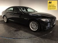 USED 2015 15 BMW 5 SERIES 2.0 520D LUXURY 4d AUTO 188 BHP FSH-1 OWNER-NAV-BLUETOOTH-LEATHER