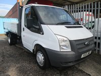 2013 FORD TRANSIT 350 Single Cab One Stop Alloy Tipper 125 PS *1 OWNER*FORD S/HISTORY*  £SOLD