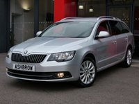 USED 2015 15 SKODA SUPERB ESTATE 2.0 TDI CR SE BUSINESS 5d 140 S/S UPGRADE COLUMBUS COLOUR SAT NAV, UPGRADE DAB RADIO, UPGRADE 17 INCH LAUREL ALLOY WHEELS, UPGRADE MULTIFUNCTION DISPLAY TRIP COMPUTER, UPGRADE TOOL IT, UPGRADE SPACE SAVING SPARE WHEEL, FULL BLACK LEATHER INTERIOR, HEATED FRONT SEATS, REAR PARKING SENSORS WITH OPTICAL DISPLAY, BLUETOOTH, LIGHT & RAIN SENSORS WITH AUTO DIMMING REAR VIEW MIRROR, 1 OWNER FROM NEW, SERVICE HISTORY, BALANCE OF MANUFACTURERS WARRANTY, £30 ROAD TAX