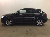 USED 2012 12 AUDI Q3 2.0 TDI S LINE 5d 138 BHP START/STOP LEATHER 18 ALLOYS PRIVACY FSH STUNNING BLACK MET WITH PART BLACK LEATHER S-LINE TRIM. 18 INCH ALLOYS. COLOUR CODED TRIMS. PRIVACY GLASS. PARKING SENSORS. BLUETOOTH PREP. MULTI MEDIA SCREEN. CLIMATE CONTROL. TRIP COMPUTER. R/CD/MP3 PLAYER. 6 SPEED MANUAL. MFSW. MOT 08/18. FULL SERVICE HISTORY. FCA FINANCE APPROVED DEALER. TEL 01937 849492.