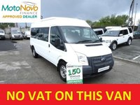 USED 2013 62 FORD TRANSIT 2.2 350 14 STR MINIBUS 135 BHP LOW MILES FSH  SAME DAY VAN FINANCE OPEN 7 DAYS PX WELCOME