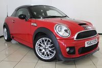 USED 2012 62 MINI COUPE 1.6 COOPER S JOHN COOPER WORKS CHILI PACK 2DR 181 BHP FULL MINI SERVICE HISTORY + HALF LEATHER SEATS + PARKING SENSOR + CRUISE CONTROL + RADIO/CD + ALLOY WHEELS