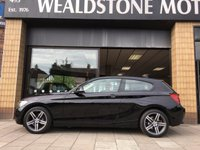 USED 2014 14 BMW 1 SERIES 1.6 116I SPORT 3d AUTO 135 BHP DAKOTA HEATED LEATHER + SAT NAV