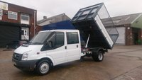 USED 2011 61 FORD TRANSIT 2.4 350 DRW 1d 115 BHP 6 SEATER  CREW CAB TIPPER ///