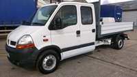 USED 2006 06 RENAULT MASTER 2.5 DCLL35 DCI LWB 1d 100 BHP 6 SEATER CREW CAB TIPPER