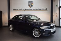 USED 2013 13 BMW 1 SERIES 2.0 120D M SPORT 2DR 175 BHP + HALF BLACK LEATHER INTERIOR + FULL BMW SERVICE HISTORY + 1 OWNER FROM NEW + BLUETOOTH + SPORT SEATS + DAB RADIO + LIGHT PACKAGE + PARKING SENSORS + 17 INCH ALLOY WHEELS +
