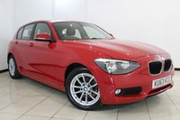 USED 2013 63 BMW 1 SERIES 1.6 116D EFFICIENTDYNAMICS 5DR 114 BHP LEATHER SEATS + AIR CONDITIONING +BLUETOOTH + MULTI FUNCTION WHEEL + AUXILIARY PORT + 16 INCH ALLOY WHEELS