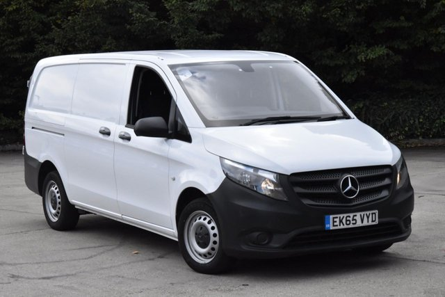 2015 65 MERCEDES-BENZ VITO 2.1 114 BLUETEC 6d 136 BHP LWB EURO 6 FWD START STOP DIESEL MANUAL VAN ONE OWNER FULL S/H SPARE KEY
