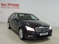 USED 2011 61 MERCEDES-BENZ C-CLASS 2.1 C200 CDI BLUEEFFICIENCY ELEGANCE ED125 4d AUTO 136 BHP