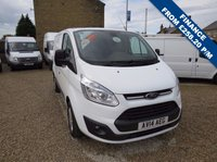 USED 2014 14 FORD TRANSIT CUSTOM 270 TREND 125PS L1 H1 VAN ONE COMPANY OWNER, ONLY 63000m