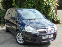 USED 2009 59 VAUXHALL ZAFIRA 1.9 EXCLUSIV CDTI 5d AUTO  **7 SEATER** DIESEL**AUTO**