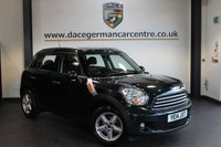 USED 2014 14 MINI COUNTRYMAN 1.6 COOPER D 5DR PEPPER PACK 112 BHP + FULL BMW SERVICE HISTORY + BLUETOOTH + SPORT SEATS + DAB RADIO + PEPPER PACK + PARKING SENSORS + 16 INCH ALLOY WHEELS +