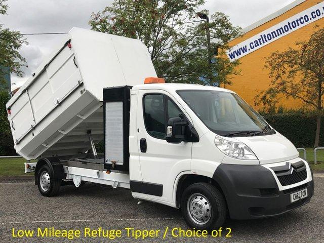 2011 11 CITROEN RELAY 2.2 35 L3 HDI LWB  Refuge-Tipper Pod Tool box, A/C Low Mileage Free UK Delivery