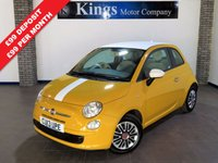 USED 2013 13 FIAT 500 1.2 COLOUR THERAPY 3dr  One Owner, Low Miles! £30 Road Tax,,Lovely Example !!   Low Ins,