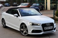 USED 2014 64 AUDI A3 CABRIOLET 2.0 TDI S LINE 2d AUTO 150 BHP STUNNING CAR OVER £4,000 WORTH OF EXTRAS!