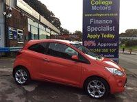 USED 2010 60 FORD KA 1.2 TITANIUM 3d 69 BHP, only 37000 miles *****FINANCE AVAILABLE APPLY ONLINE******