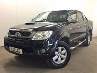 USED 2011 11 TOYOTA HI-LUX 3.0 INVINCIBLE 4X4 D-4D DCB 1d 169 BHP RUNNING BOARDS PRIVACY ONE OWNER FSH NO FINANCE REPAYMENTS FOR 2 MONTHS STC. COMMERCIAL (£13400+2680VAT). 4WD. STUNNING BLACK MET WITH GREY CLOTH TRIM. AIR CON. RUNNING BOARDS. LOAD LINER AND COVER. CRUISE CONTROL. 17 INCH ALLOYS. COLOUR CODED TRIMS. PRIVACY GLASS. PAS. EW. MFSW. MOT 07/18. ONE OWNER FROM NEW. FULL SERVICE HISTORY. FCA FINANCE APPROVED DEALER. TEL 01937 849492
