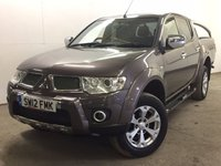 USED 2012 12 MITSUBISHI L200 2.5 DI-D 4X4 BARBARIAN LB DCB 1d 175 BHP 4WD SAT NAV LEATHER FSH NO VAT ( NO VAT ). 4WD. SATELLITE NAVIGATION. STUNNING BROWN MET WITH FULL BLACK BARBARIAN LEATHER TRIM. RUNNING BOARDS. CRUISE CONTROL. AIR CON. 17 INCH ALLOYS. COLOUR CODED TRIMS. PRIVACY GLASS. LOAD LINING WITH COVER. BLUETOOTH PREP. PAS. EW. MFSW. MOT 06/18. FULL SERVICE HISTORY. FCA FINANCE APPROVED DEALER. TEL 01937 849492
