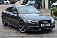 USED 2013 63 AUDI A5 2.0 SPORTBACK TDI S LINE BLACK EDITION S/S 5d 175 BHP.BIG SPEC SATELLITE NAVIGATION