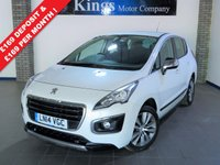 USED 2014 14 PEUGEOT 3008 1.6 E-HDI ACTIVE 5d AUTO New Shape!! Pearlescent White Met,  One Owner,Full Service History