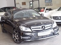 USED 2013 63 MERCEDES-BENZ C CLASS 2.1 C220 CDI BLUEEFFICIENCY AMG SPORT PLUS 2d AUTO 168 BHP +SAT NAV+LEATHER+FSH+