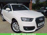 "USED 2014 14 AUDI Q3 1.4 TFSI SE 5d 150 BHP ONE OWNER, SAT NAV, 17"" ALLOYS, CLIMATE CONTROL, PARKING SENSORS, FULL SERVICE HISTORY, SPARE KEY"