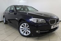 USED 2011 11 BMW 5 SERIES 2.0 520D SE 4DR AUTOMATIC 181 BHP FULL BMW SERVICE HISTORY + HEATED LEATHER SEATS + SAT NAVIGATION + PARKING SENSOR + BLUETOOTH + CRUISE CONTROL + MULTI FUNCTION WHEEL + 17 INCH ALLOY WHEELS