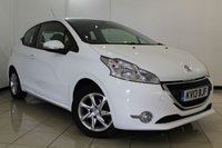 USED 2013 13 PEUGEOT 208 1.0 ACTIVE 3DR 68 BHP FULL SERVICE HISTORY + AIR CONDITIONING + CRUISE CONTROL + MULTI FUNCTION WHEEL + 15 INCH ALLOY WHEELS