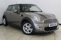 USED 2011 61 MINI HATCH ONE 1.6 ONE D 3DR PEPPER PACK 90 BHP FULL SERVICE HISTORY + AIR CONDITIONING + RADIO/CD + ELECTRIC WINDOWS + ALLOY WHEELS