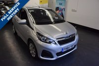 USED 2015 64 PEUGEOT 108 1.0 ACTIVE 3d 68 BHP 1 LADY OWNER , FULL SERVICE HISTORY,