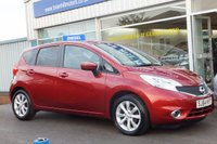 USED 2014 64 NISSAN NOTE 1.2i  DIG-S ACENTA PREMIUM  5dr  with STYLE PACK & NAV. (100PS) .........ONE LADY OWNER. FULL NISSAN SERVICE HISTORY. SAT. NAV. CLIMATE CONTROL, ALLOY WHEELS. CRUISE CONTROL (Zero road tax & 65mpg)