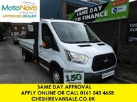 USED 2014 14 FORD TRANSIT 2.2 350 DRW 125BHP DROPSIDE TWIN WHEEL NEW SHAPE SAME DAY VAN FINANCE OPEN 7 DAYS PX WELCOME