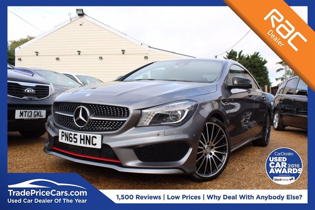 View our 2015 65 MERCEDES-BENZ CLA 2.0 CLA250 4MATIC ENGINEERED BY AMG 4d AUTO 211 BHP