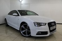 USED 2012 62 AUDI A5 3.0 TDI QUATTRO S LINE BLACK EDITION 2DR AUTOMATIC 245 BHP AUDI SERVICE HISTORY + HEATED LEATHER SEATS + SAT NAVIGATION + PARKING SENSOR + BLUETOOTH + MULTI FUNCTION WHEEL + 19 INCH ALLOY WHEELS