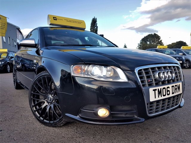 2006 06 AUDI A4 4.2 S4 QUATTRO 4d 339 BHP! p/x welcome! SAT NAV! TV! XENON! HEATED ELECTRIC LEATHER SEATS! 68K MILES! FULL S-HISTORY! 19in ALLOYS! MINT CONDITION! FINANCE AVB! NEW MOT!