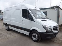 2013 MERCEDES-BENZ SPRINTER 313 CDI MWB HI ROOF, 130 BHP [EURO 5], FULL SERVICE HISTORY, 1 FORMER OWNER £11495.00