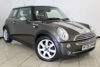 USED 2006 06 MINI HATCH COOPER 1.6 COOPER PARK LANE 3DR 114 BHP SERVICE HISTORY + LEATHER SEATS + AIR CONDITIONING + MULTI FUNCTION WHEEL + RADIO/CD + ELECTRIC WINDOWS + 16 INCH ALLOY WHEELS
