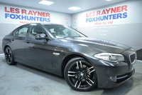 USED 2013 13 BMW 5 SERIES 2.0 520D SE 4d AUTO 181 BHP Full BMW Service History, Full Leather, Sat Nav, Bluetooth