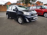 USED 2015 65 NISSAN MICRA 1.2 ACENTA 5d 79 BHP EXCELLENT FUEL ECONOMY!!..LOW CO2 EMISSIONS(115G/KM)..£30 ROAD TAX...FULL HISTORY...ONLY 6268 MILES FROM NEW!!..WITH CLIMATE CONTROL!!..ALLOY WHEELS!!