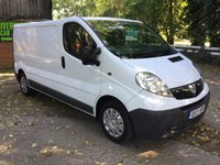 USED 2013 13 VAUXHALL VIVARO 2.0 2900 CDTI 1d 113 BHP LONG WHEEL BASE  1 OWNER, GENUINE LOW MILES, HPI CHECKED,