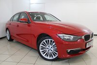USED 2013 63 BMW 3 SERIES 2.0 320D LUXURY 4DR AUTOMATIC 184 BHP LEATHER SEATS + SAT NAVIGATION + PARKING SENSOR + BLUETOOTH + CRUISE CONTROL + 18 INCH ALLOY WHEELS