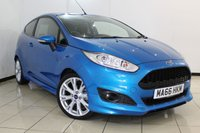 USED 2016 66 FORD FIESTA 1.0 ZETEC S 3DR 139 BHP SAT NAVIGATION + BLUETOOTH + MULTI FUNCTION WHEEL + AIR CONDITIONING + ALLOY WHEELS