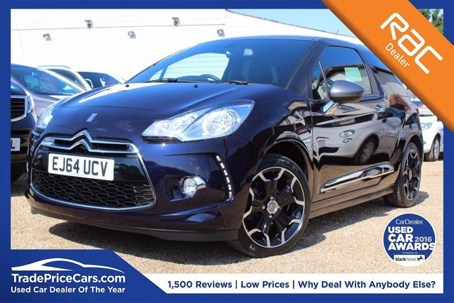 View our 2014 64 CITROEN DS3 1.2 PURETECH DSTYLE PLUS S/S 3d 109 BHP
