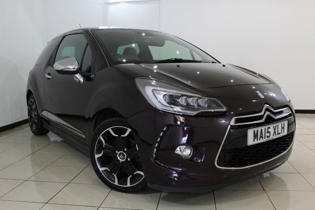 View our 2015 15 CITROEN DS3 1.6 BLUEHDI DSPORT PLUS 3DR 120 BHP