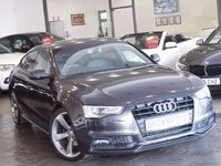 USED 2014 14 AUDI A5 2.0 SPORTBACK TDI S LINE BLACK EDITION S/S 5d 175 BHP SAT NAV+H-LEATHER+5 SEATS+FSH