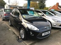USED 2014 14 FORD KA 1.2 ZETEC 3d 69 BHP