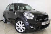USED 2011 61 MINI COUNTRYMAN 1.6 COOPER S ALL4 5DR 184 BHP FULL SERVICE HISTORY + LEATHER SEATS + SAT NAVIGATION + PARKING SENSOR + BLUETOOTH + MULTI FUNCTION WHEEL + 17 INCH ALLOY WHEELS