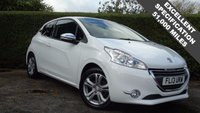 USED 2013 13 PEUGEOT 208 1.2 ALLURE 3d 82 BHP GOOD CONDITION THROUGHOUT ONLY 51000 MILES